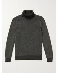 Sease Reversible Cashmere Rollneck Sweater - Black