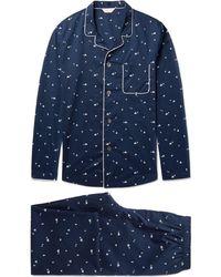 Derek Rose | Nelson 62 Printed Cotton Pyjama Set | Lyst