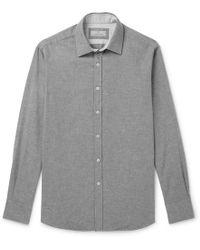 Canali - Brushed-cotton Shirt - Lyst