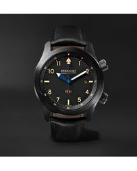 Bremont U-2/51-jet Automatic 43mm Stainless Steel And Leather Watch - Black