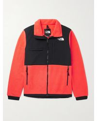 The North Face Denali 2 Logo-embroidered Colour-block Fleece And Shell Jacket - Orange