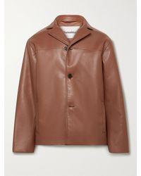 Nanushka Arto Regenerated Leather Jacket - Brown