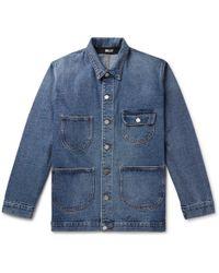 Billy Denim Chore Jacket - Blue