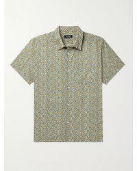 A.P.C. - Cippi Floral-print Cotton-voile Shirt - Lyst