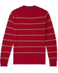 Altea - Striped Virgin Wool Jumper - Lyst