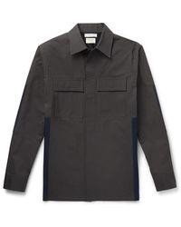 Bottega Veneta Paneled Cotton Overshirt - Gray