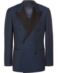 Kingsman - Blue Harry Slim-fit Double-breasted Wool Tuxedo Jacket - Lyst