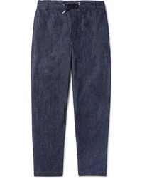 Maison Kitsuné - Denim Drawstring Trousers - Lyst
