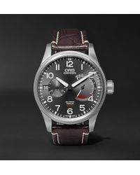 Oris - Propilot Calibre 111 44mm Stainless Steel And Alligator Watch - Lyst