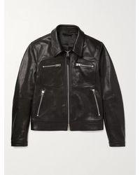 Tom Ford Leather Blouson Jacket - Black