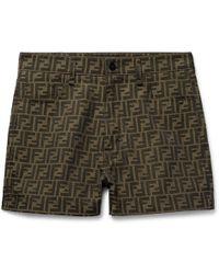 Fendi - Logo-jacquard Shorts - Lyst
