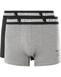 Neighborhood Two-pack Cotton-blend Boxer Briefs - Black