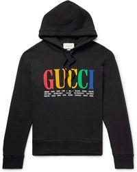 Gucci - Cities Rainbow Hooded Sweatshirt - Lyst