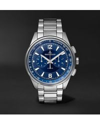 Jaeger-lecoultre Polaris Automatic Chronograph 42mm Stainless Steel Watch - Blue