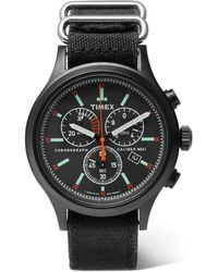 Timex - Allied Chronograph Brass And Canvas Watch - Lyst