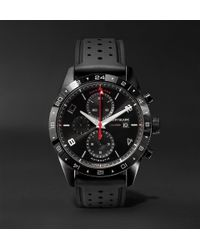 Montblanc - Timewalker Automatic Chronograph Utc 43mm Stainless Steel And Rubber Watch - Lyst