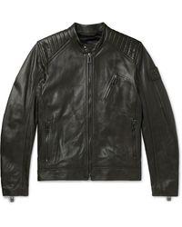 3b23823eb Belstaff Hallington Blouson In Black Technical Leather for Men - Lyst