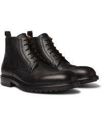 Officine Generale Full-grain Leather Boots - Black
