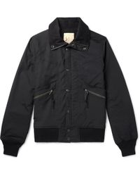 Monitaly - Short Field Cotton-shell Bomber Jacket - Lyst