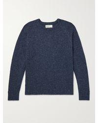 Universal Works Mélange Knitted Jumper - Blue