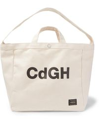 Comme des Garçons + Porter Logo-print Cotton-canvas Tote Bag - Multicolour