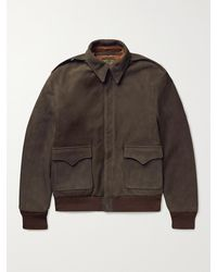 The Real McCoys Type A-2 Suede Jacket - Brown