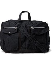 Porter 2way Large Canvas Duffle Bag - Blue
