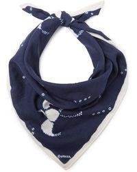 Blue Blue Japan Tie-dyed Cotton Bandana - Blue