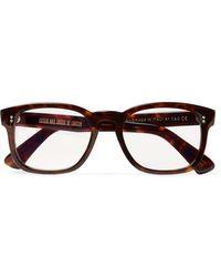 Kingsman + Cutler And Gross D-frame Tortoiseshell Acetate Optical Glasses - Brown