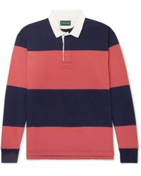 J.Crew - 1984 Twill-trimmed Striped Cotton-jersey Polo Shirt - Lyst