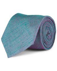 Mr Start Shantung Silk Tie - Blue