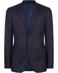 Mr Start Rivington Air Force Blue Flannel Suit