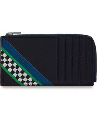 Mulberry - Zip Around Credit Card Holder In Midnight Racing Stripes - Lyst