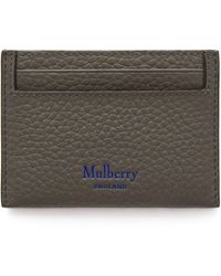 Mulberry Credit Card Slip In Earth Grey And Blue
