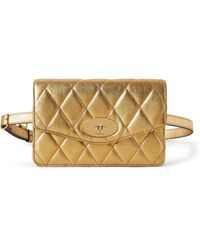 Mulberry Darley Belt Bag In Gold Quilted Metallic Buffalo