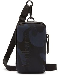 Mulberry Zipped Pouch In Midnight And Black Camo Jacquard