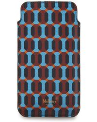 Mulberry Iphone Cover And Card Slip In Pale Slate Multi-coloured - Multicolour