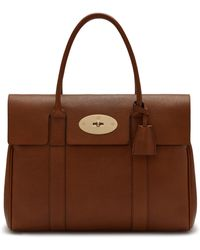 Mulberry Bayswater In Oak Natural Grain Leather - Brown