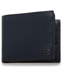 Mulberry 8 Card Coin Wallet Tree Plaque In Bright Navy Cross Grain Leather - Blue