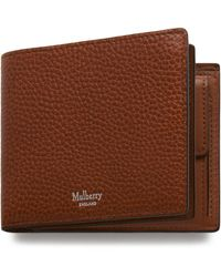Mulberry 8 Card Coin Wallet In Oak Natural Grain Leather - Brown