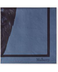 Mulberry Fawn Square In Nightfall Silk Twill - Blue