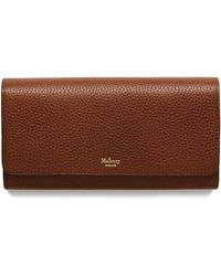 Mulberry - Continental Wallet In Oak Natural Grain Leather - Lyst