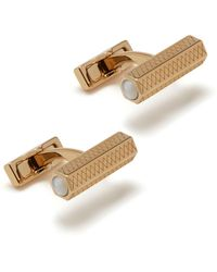 Mulberry - Hexagonal Cufflinks In Cream Soft Gold Plated Brass And Mother Of Pearl - Lyst