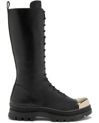 Mulberry Hoxton Ranger Cap Toe Lace-up Boot In Black Soft Lamb Nappa