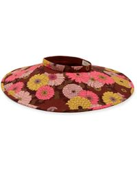 Mulberry Wide Brimmed Visor In Brown Polyester
