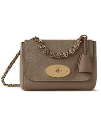 Mulberry Top Handle Lily In Solid Grey Heavy Grain