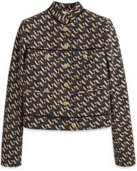 Mulberry Ana Jacket In Dark Navy M Cotton - Blue