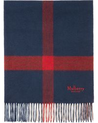 Mulberry - Large Check Scarf - Lyst