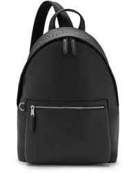 Mulberry Zipped One Shoulder Backpack In Black Small Classic Grain