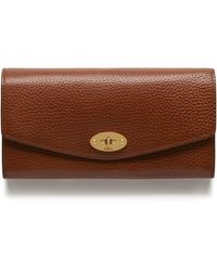Mulberry Darley Wallet In Oxblood Natural Grain Leather - Brown